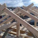 Двускатная крыша для курятника