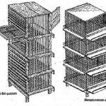 Чертеж металлической и деревянной клетки для цыплят