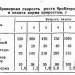 Таблица увеличения массы