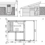 Схема и чертеж конструкции с пристройкой