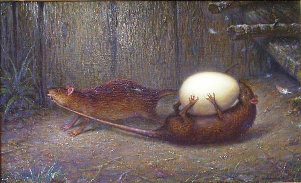 Крысы сообща воруют яйца