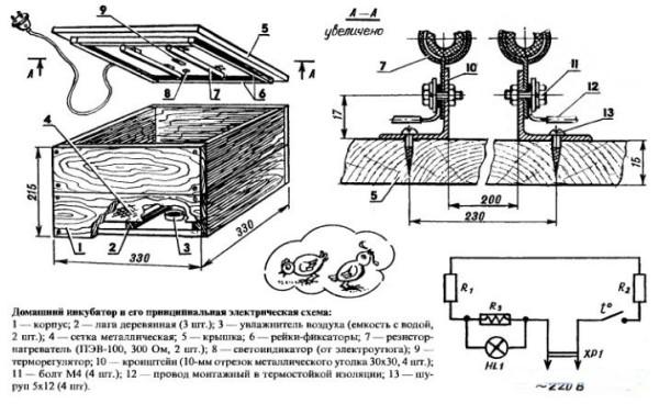 Схема простого деревянного