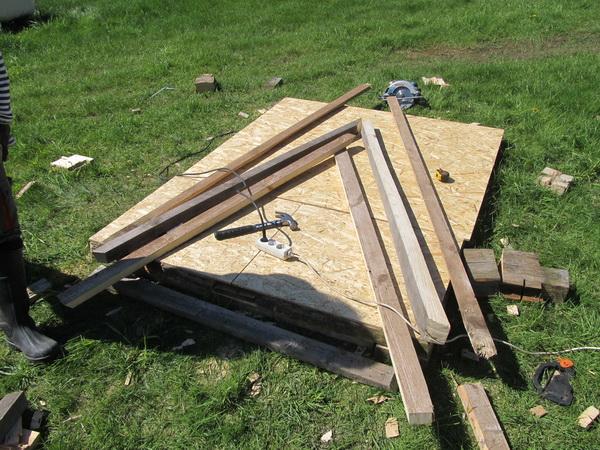 Подготовительные материалы для постройки